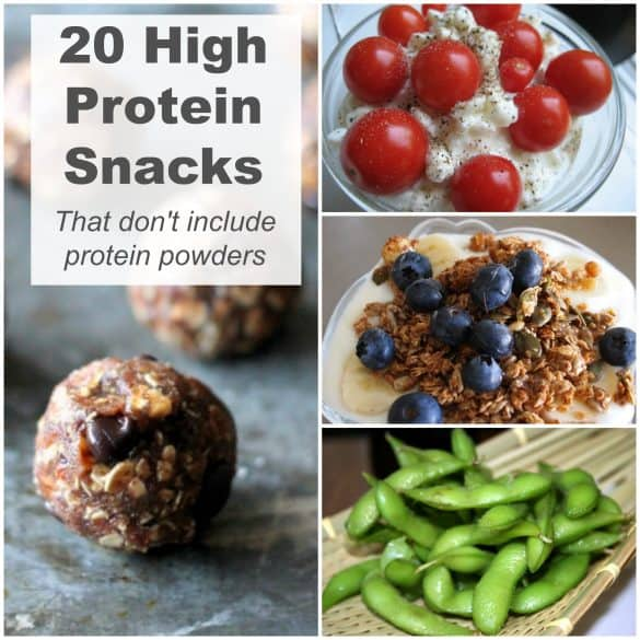 High protein snacks that don't include protein powders