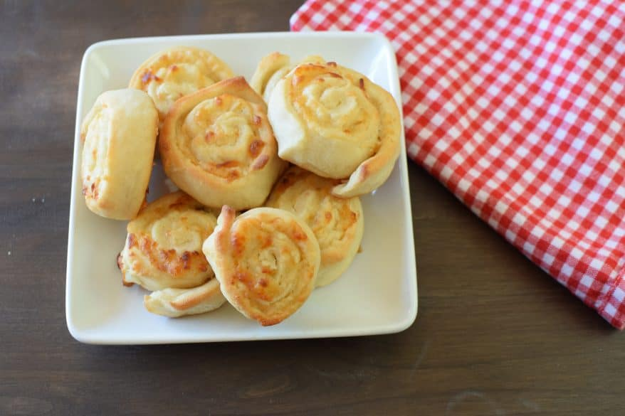 Delicious cheesy pinwheels