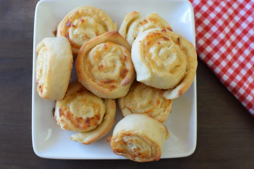 The best cheesy pinwheels