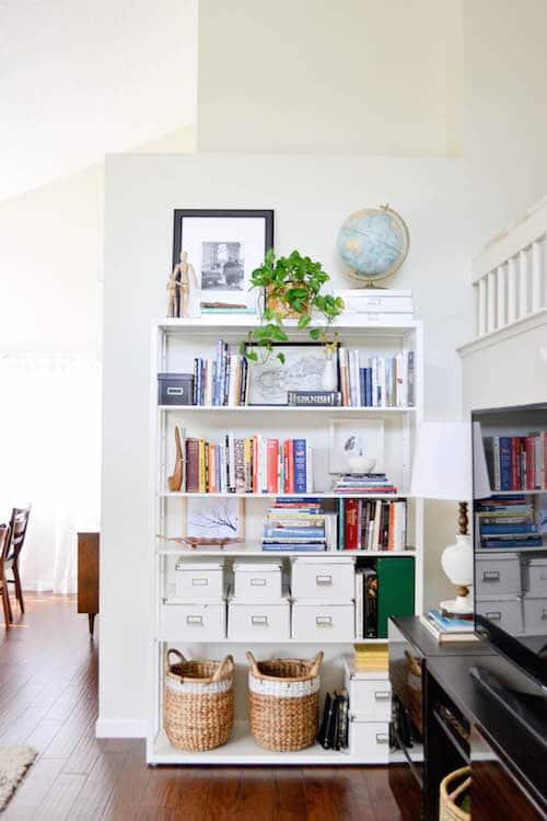 shelving unit, organization, affordable, books