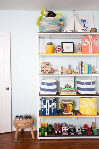 Kids room, toy storage, shelving unit, affordable