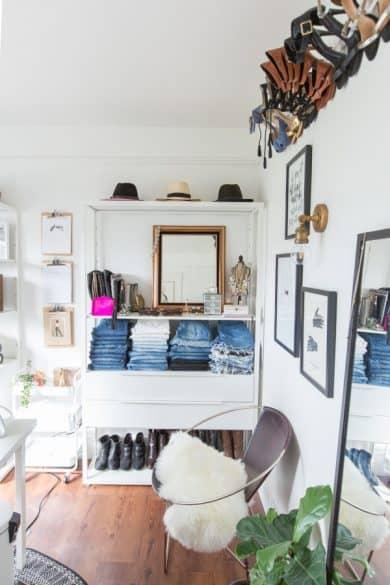 DIY, clothing storage shelf, clothing organization, affordable shelf