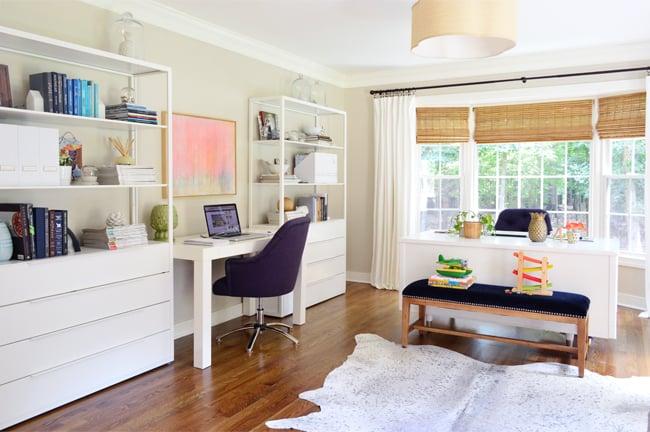 Office organization, DIY, shelving unit