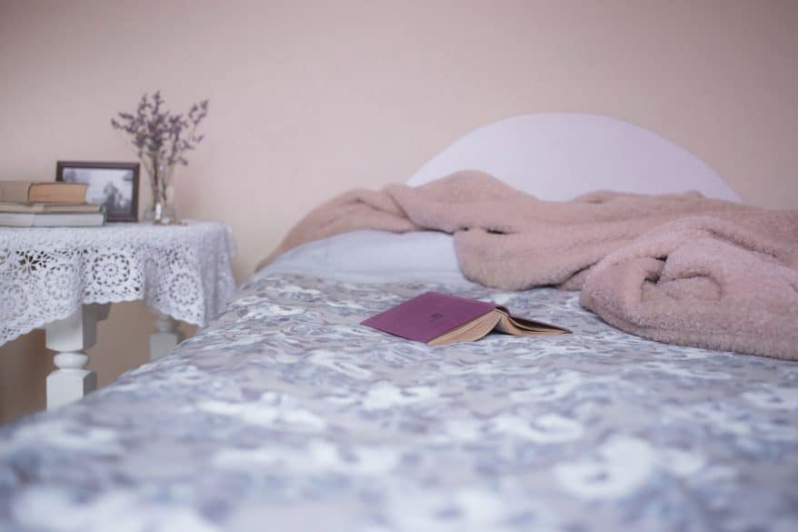 reading in bed, house guests, hotel experience, basket