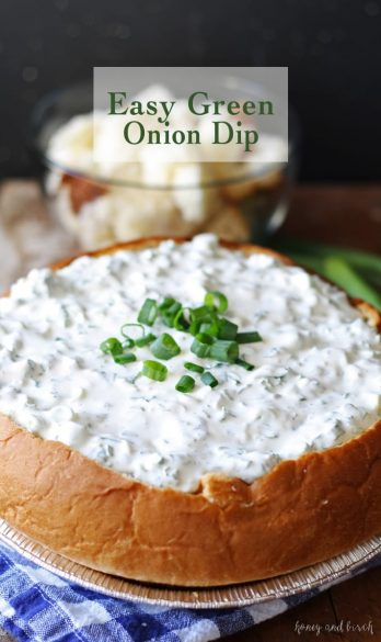bread bowl, green onion dip