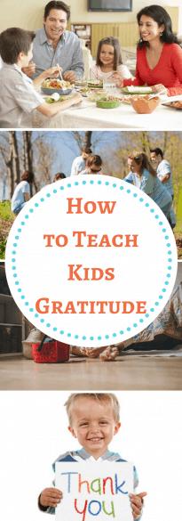 Teach Kids Gratitude