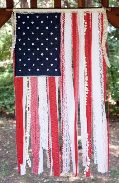 fabric scrap flag