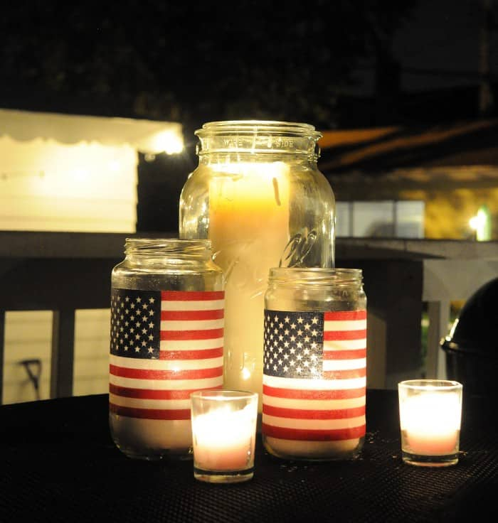 flag candles 4th of july