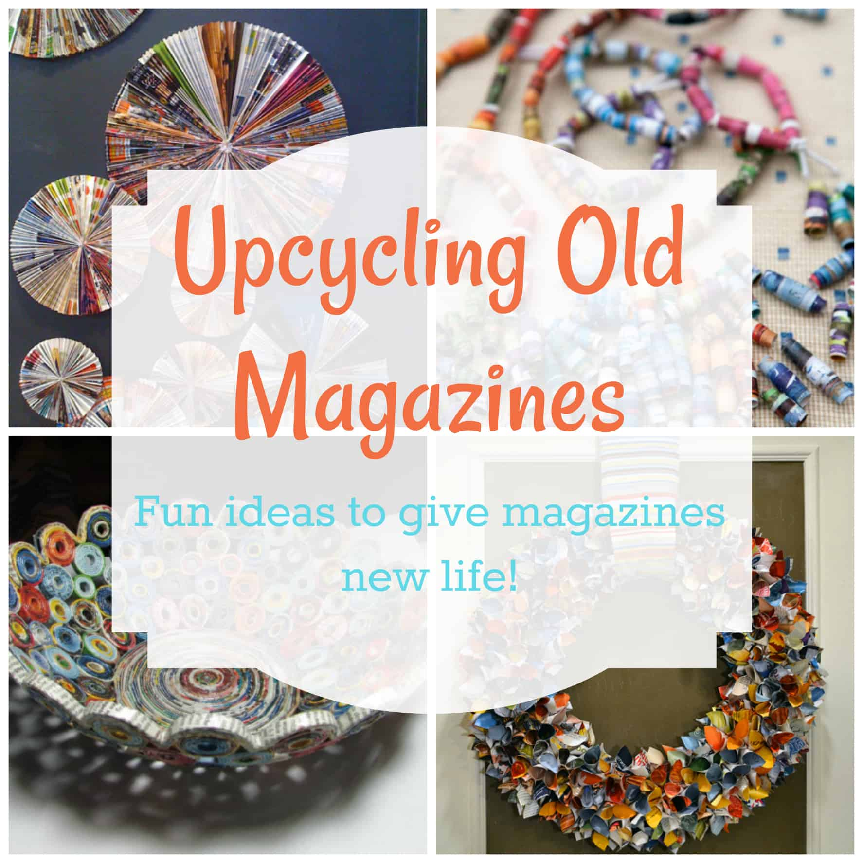 upcycling old magazines fun ideas to give magazines new life the organized mom. Black Bedroom Furniture Sets. Home Design Ideas