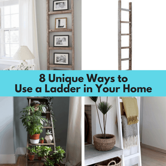 Decorating with a ladder around your home