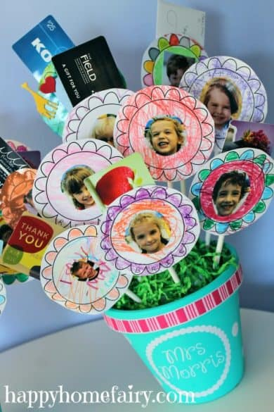 gift cards, DIY flower bouquet
