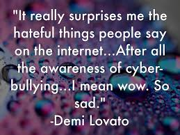 Personal words about cyber bullying