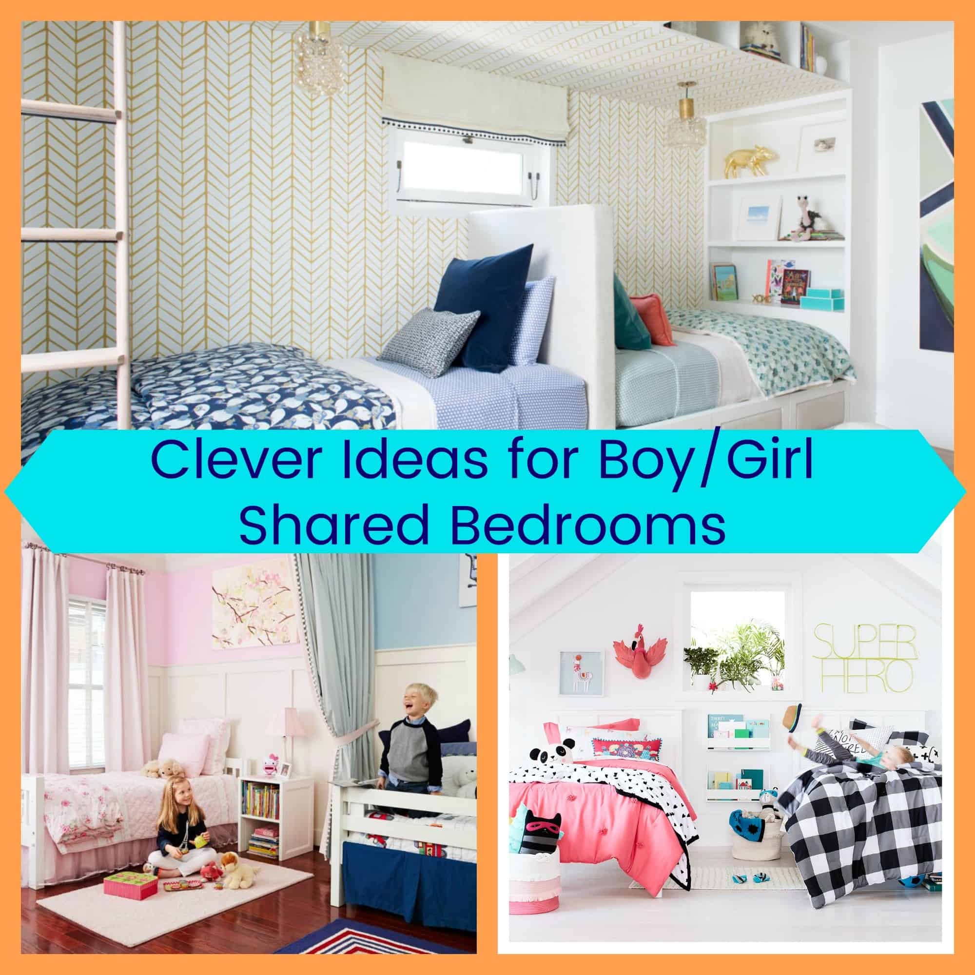 Clever ideas for boy girl shared bedrooms the organized mom for Shared boy and girl room ideas