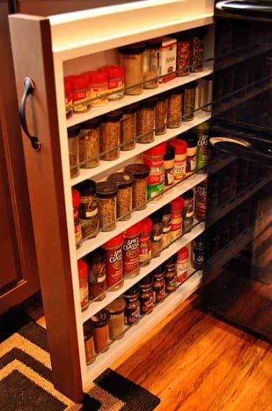 kitchen cabinets spice rack pull out 7 clever ways to spices the organized 21209