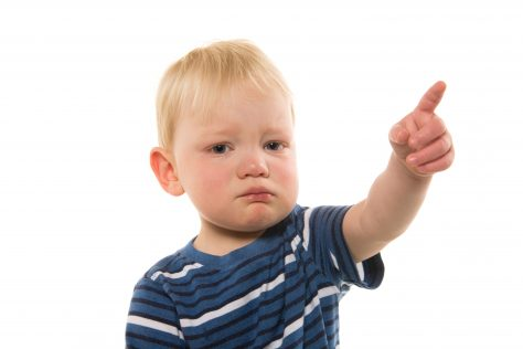 toddler pointing