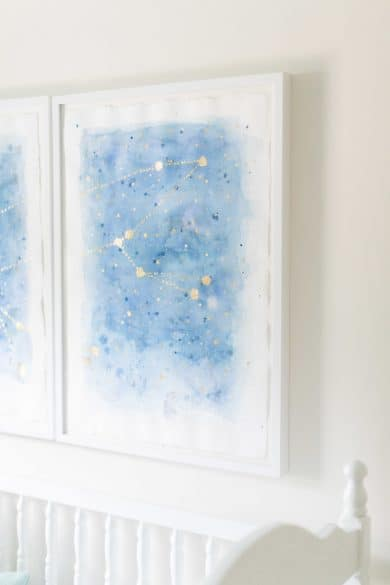 DIY constellation art