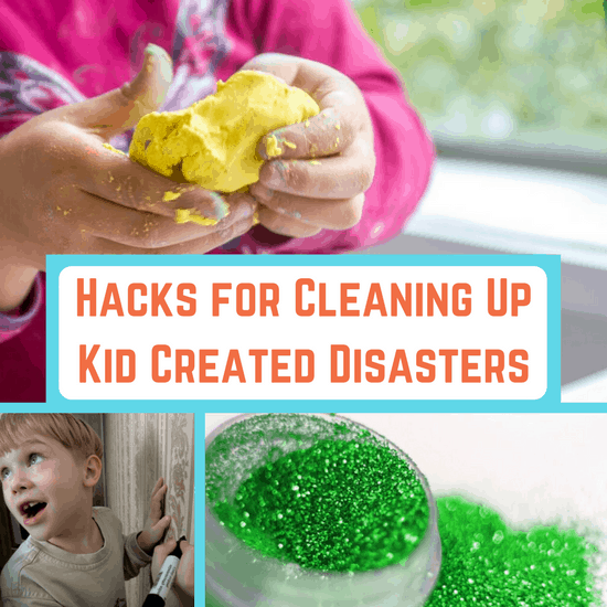 cleaning up kid created disasters