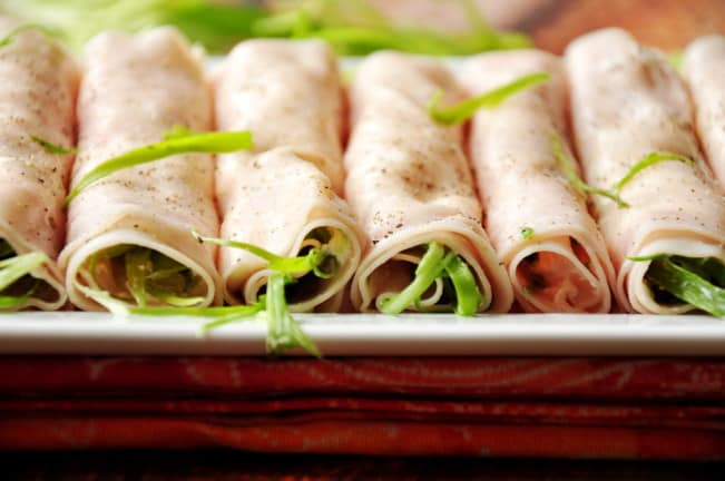 School lunch ham and cheese roll ups