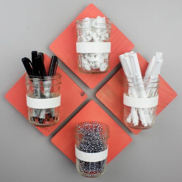 office supplies jar organization