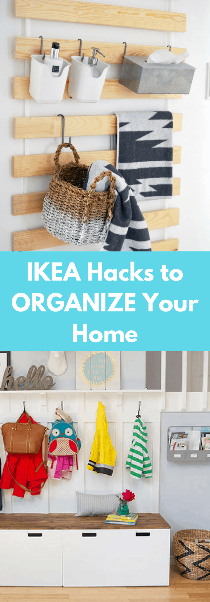 ikea hacks to organize your home