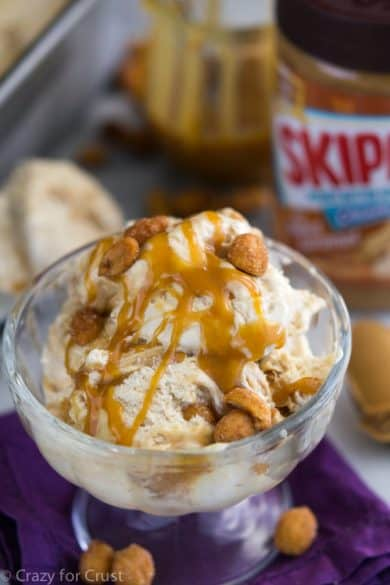 salted caramel peanut butter ice cream