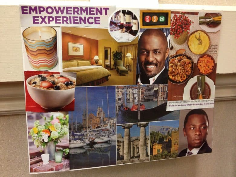 traditional vision board