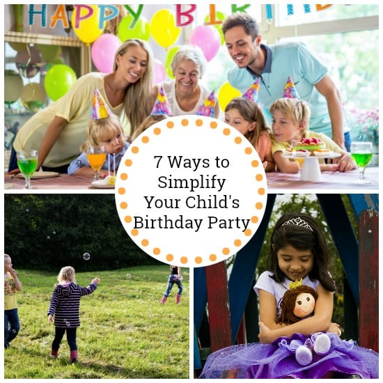 simplify your child's birthday party