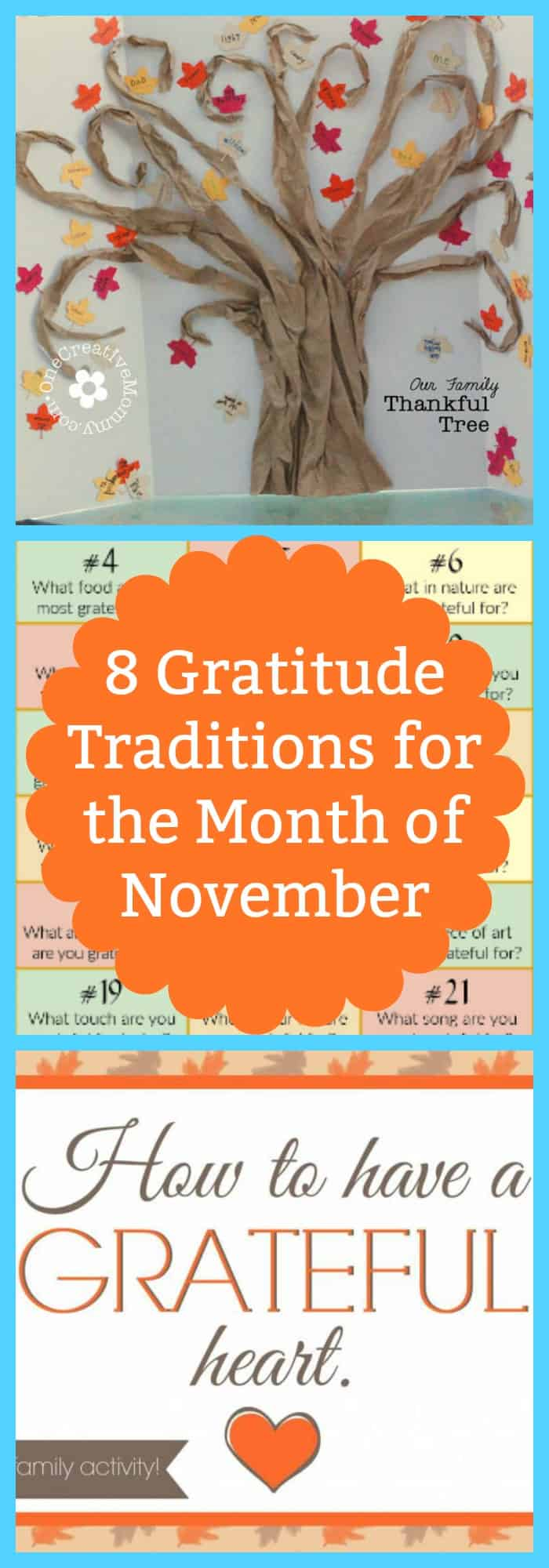 Kids-8 Gratitude Traditions for the Month of November--The Organized Mom