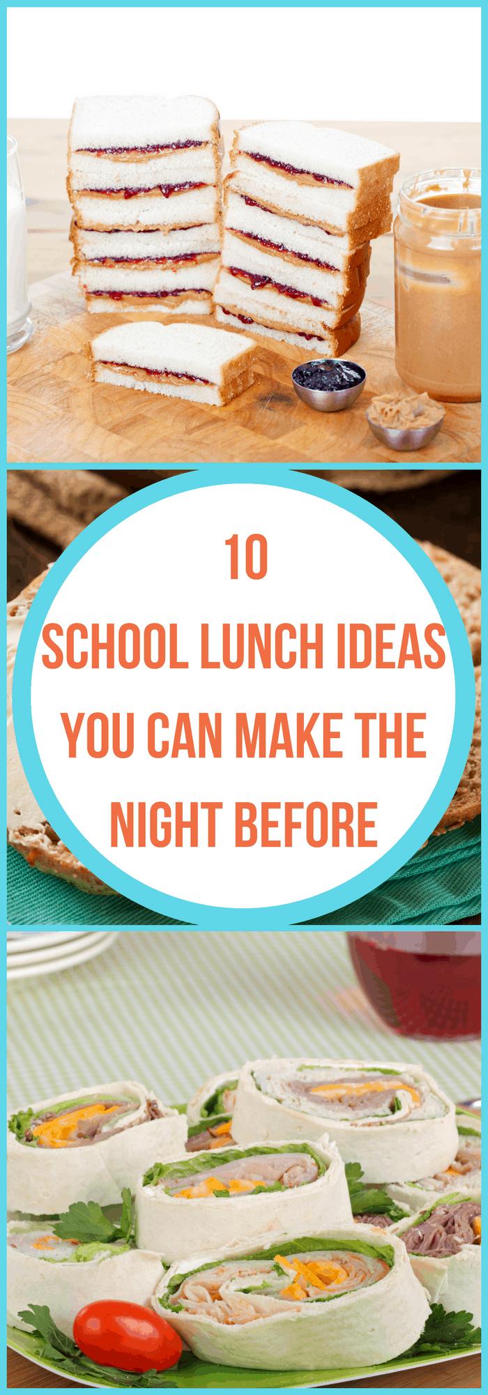 Make Ahead Lunch Ideas