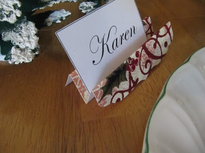 note card place card holder
