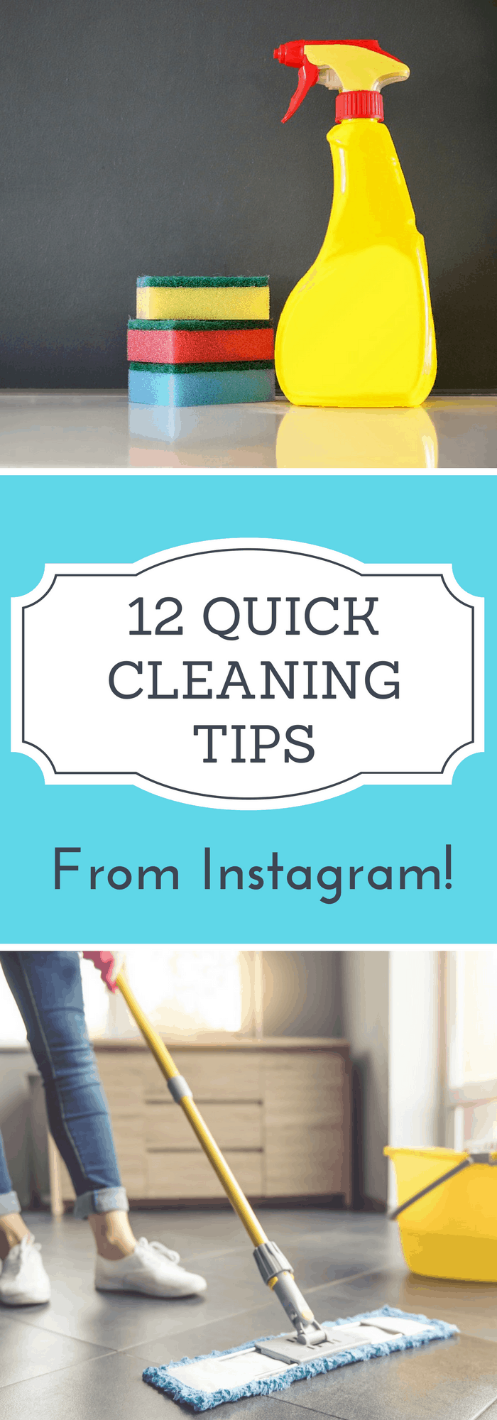 Cleaning--12 Quick Cleaning Tips from Instagram--The Organized Mom