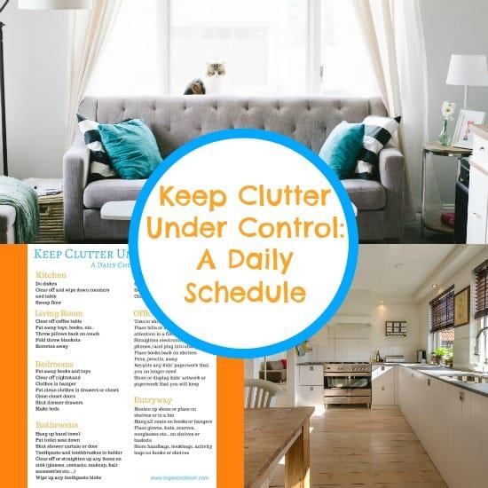 keep clutter under control