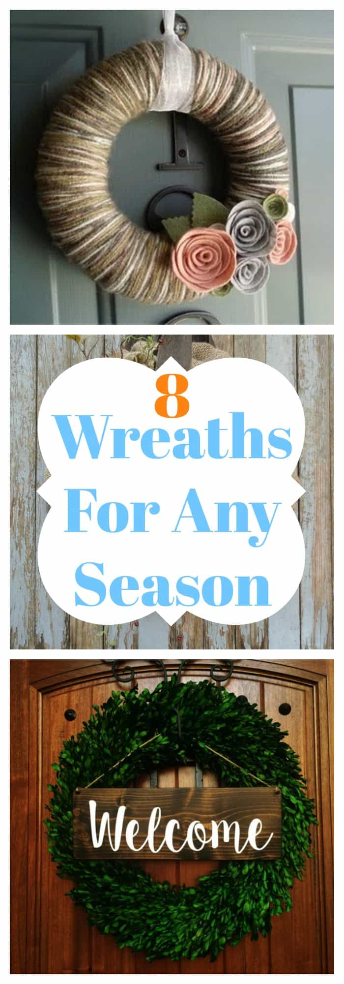 DIY-8 Wreaths For Any Season-The Organized Mom