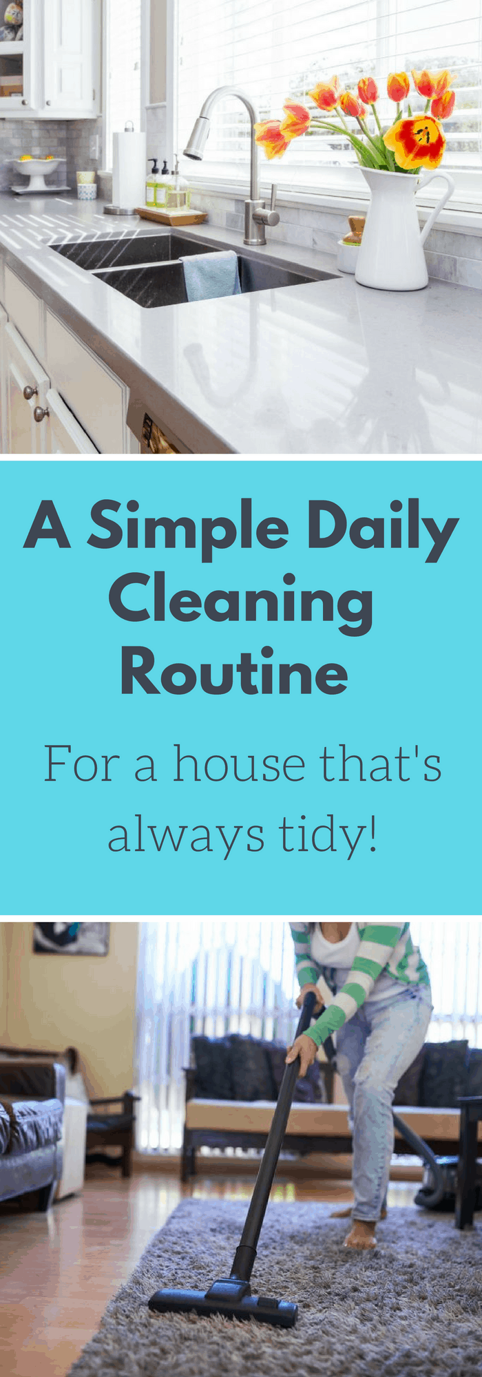 Cleaning--A Simple Daily Cleaning Routine--The Organized Mom
