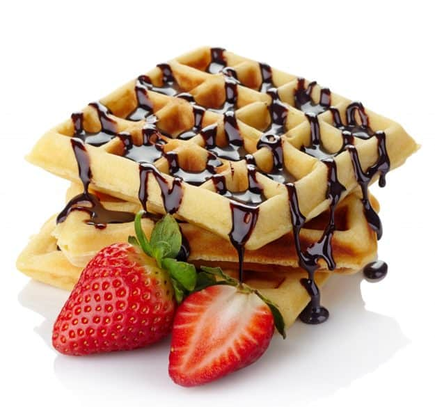 waffles with chocolate