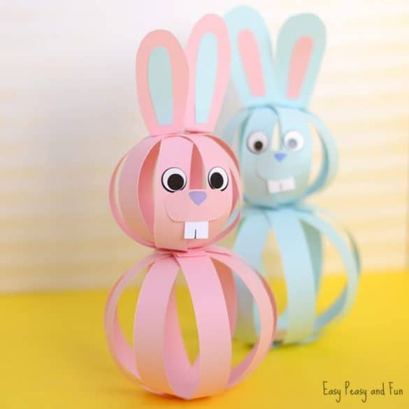 Paper Bunny Easter craft