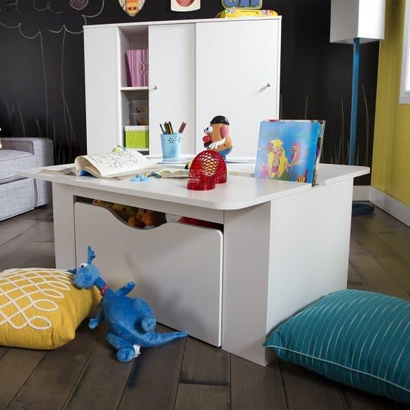 children's desk with storage