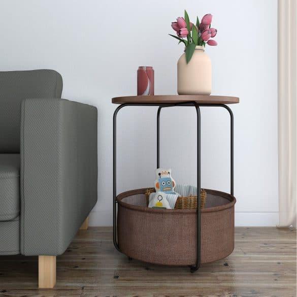 endtable with storage basket