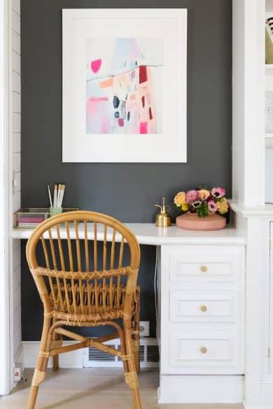 artwork above desk