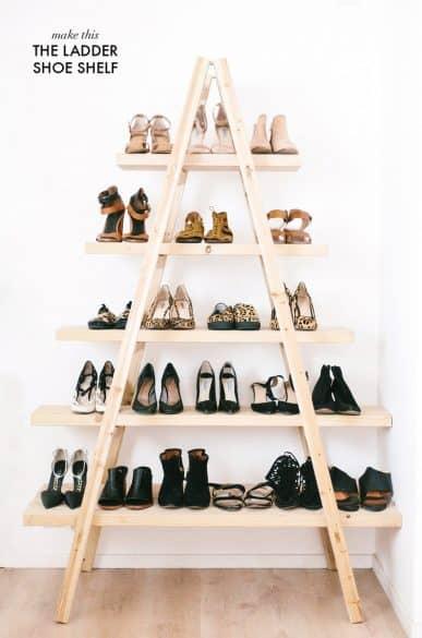 ladder shoe shelf