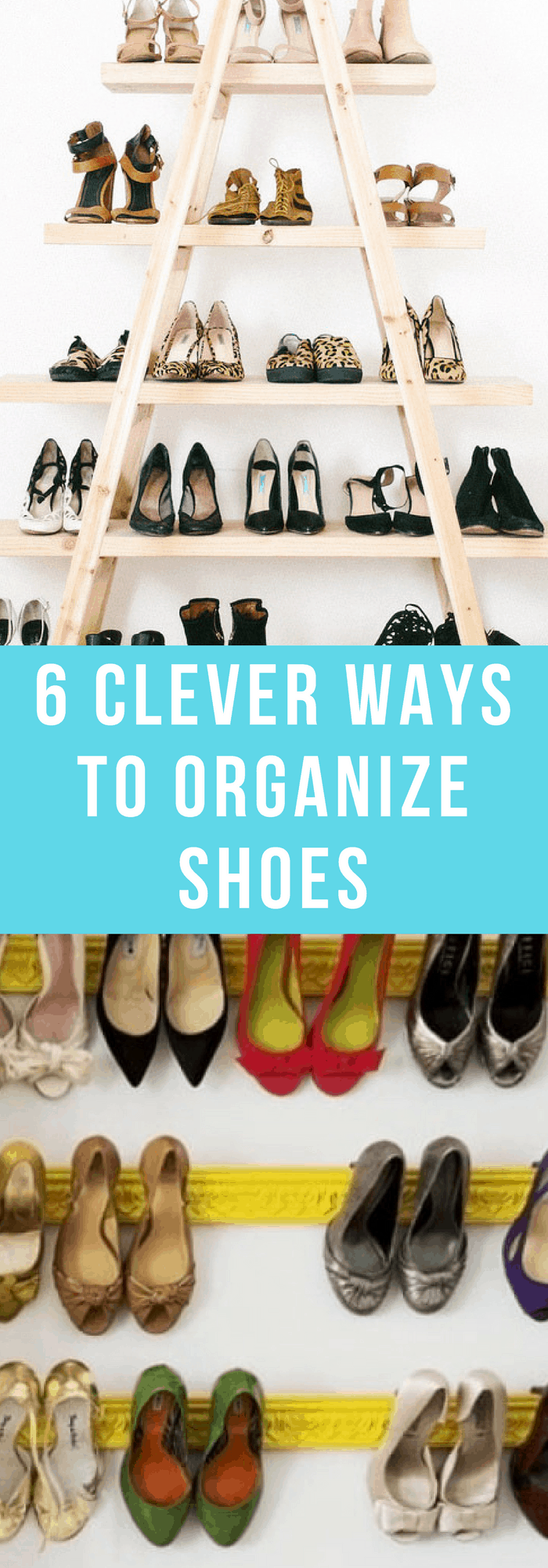 Organization--6 Clever Ways to Organize Shoes--The Organized Mom