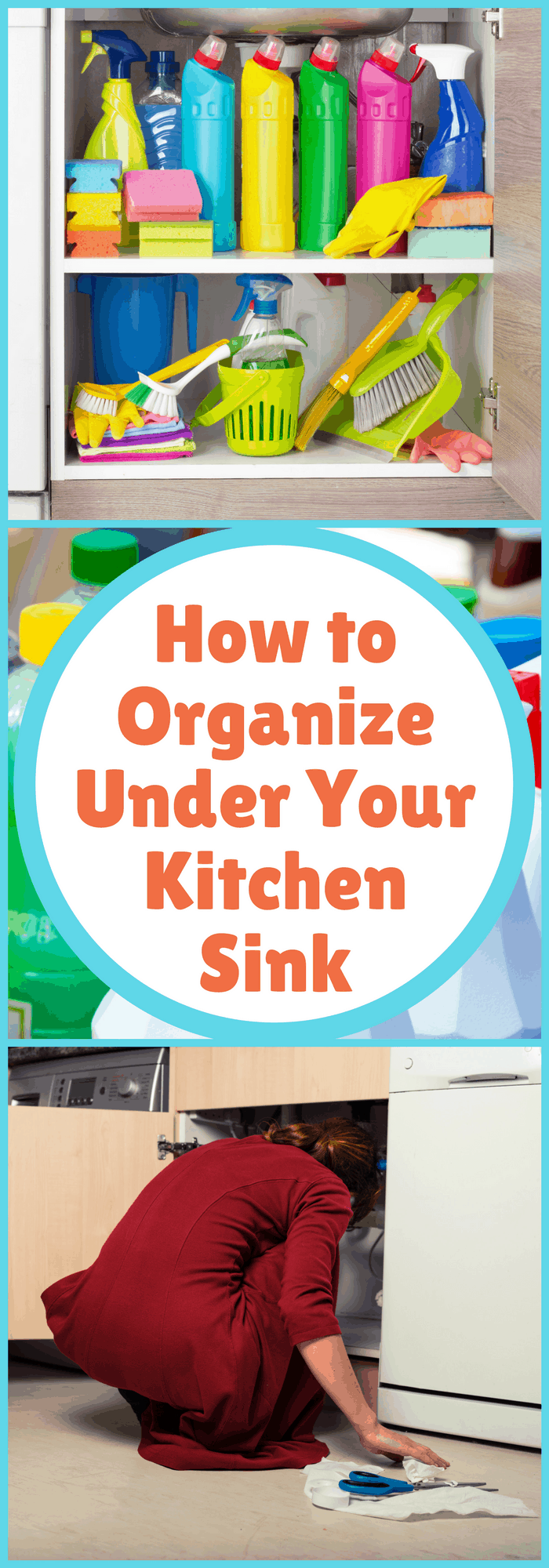 Organization--How to Organize Under Your Kitchen Sink--The Organized Mom