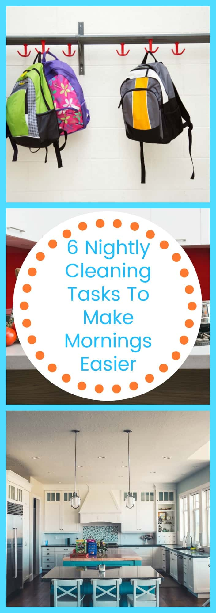 Cleaning--6 Nightly Cleaning Tasks to Make Mornings Easier--The Organized Mom