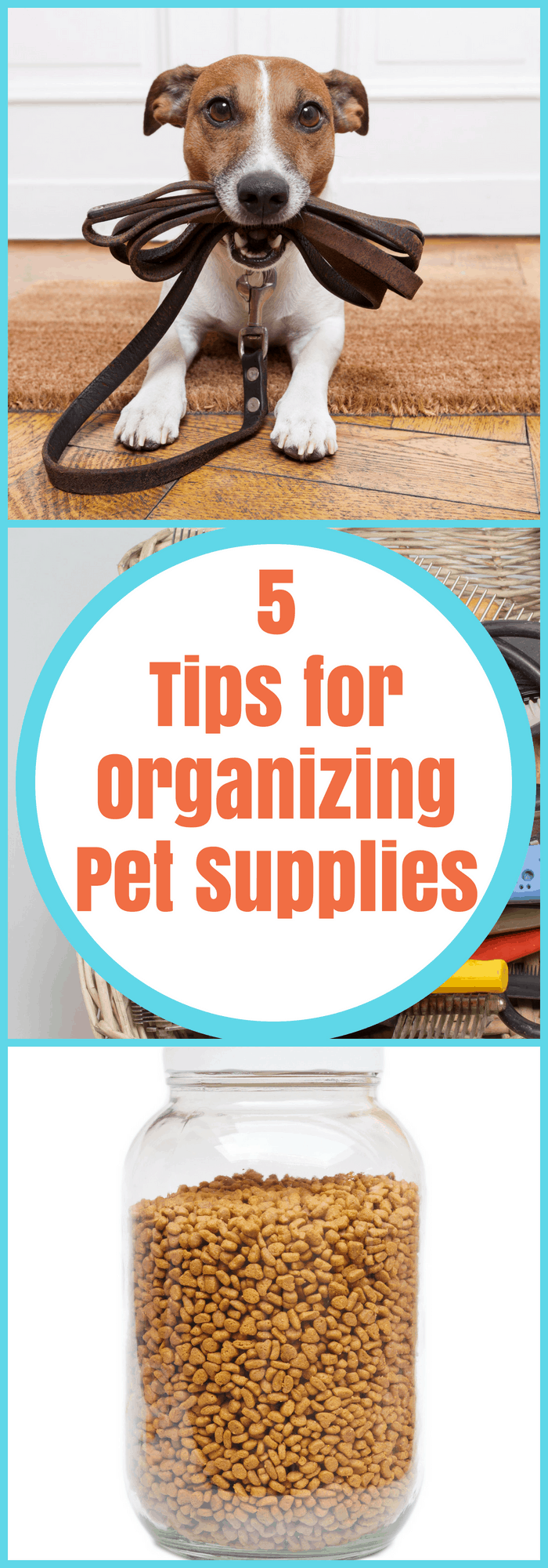 Pets--5 Tips for Organizing Pet Supplies--The Organized Mom