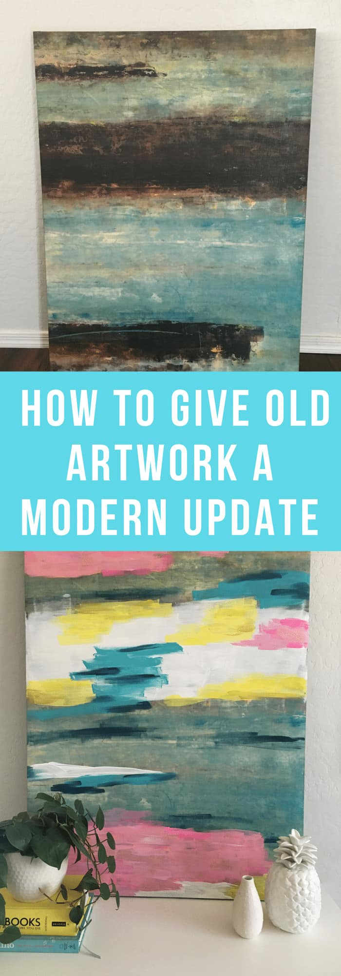 DIY--How to Give Old Artwork a Modern Update--The Organized Mom