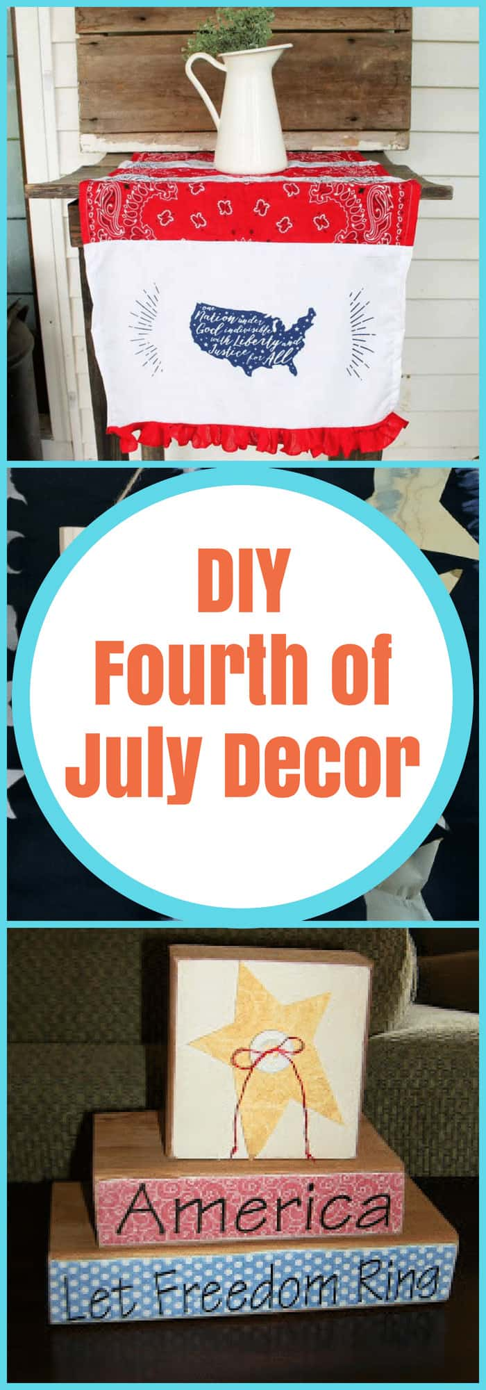 DIY--Fourth of July Decor--The Organized Mom