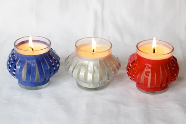 DIY votive candles