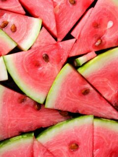 healthy pool snack of watermelon