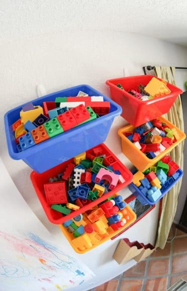 storing legos