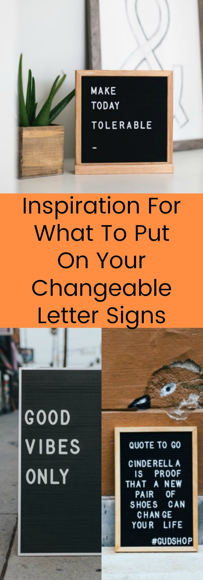Inspiration For What To Put On Your Changeable Letter Signs